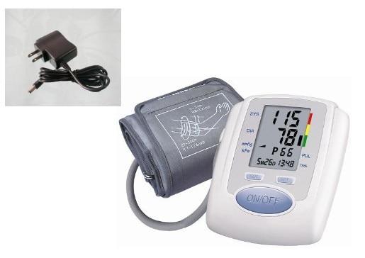 ФОТО Free shipping Arm Digital Blood Pressure Monitor+AC power Adaptor blood pressure monitors