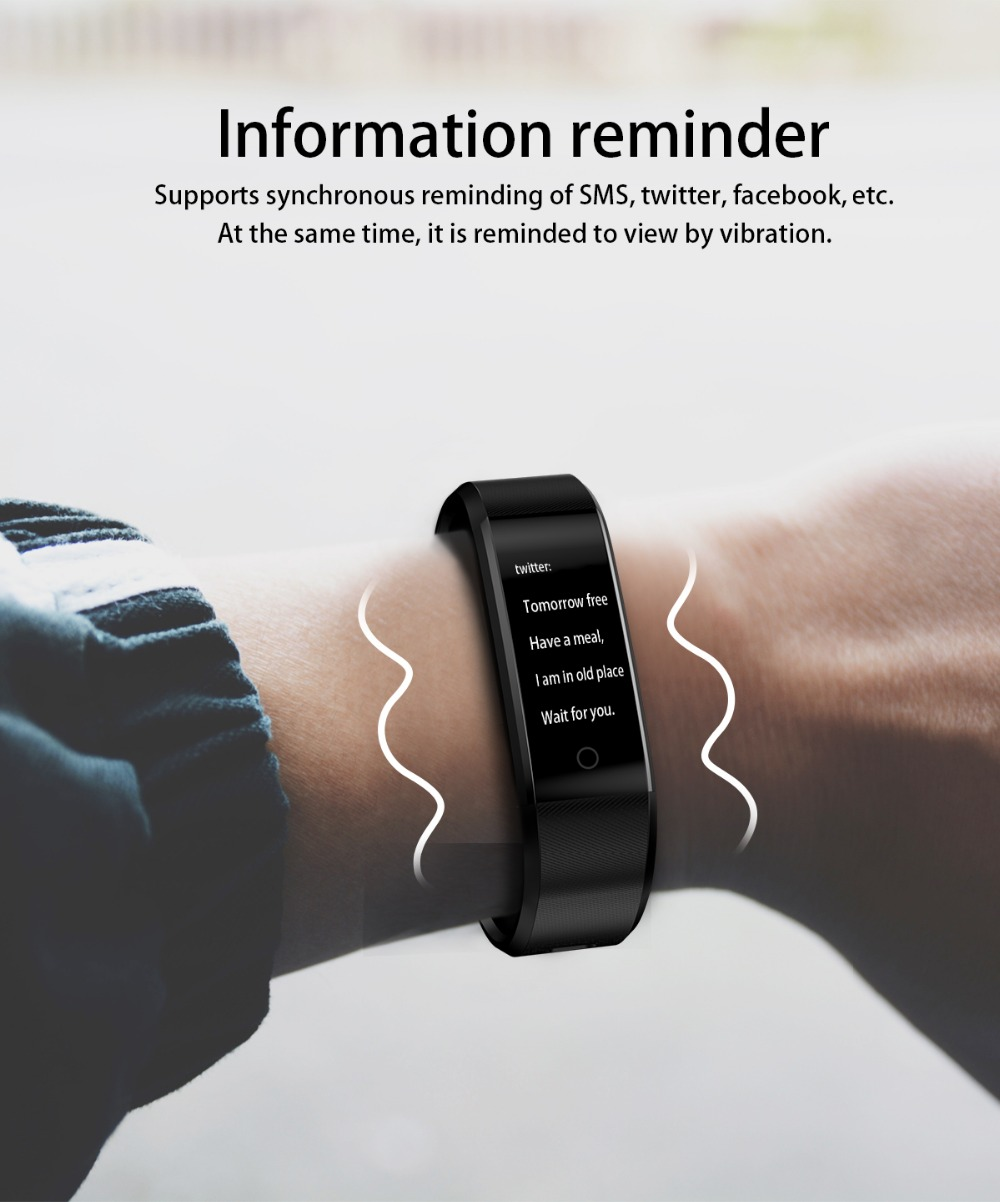 B05 Smart Wristband Cicret Watch Heart rate monitor Smart band Pulsometer  Sport health Fitness Bracelet tracker for IOS Android
