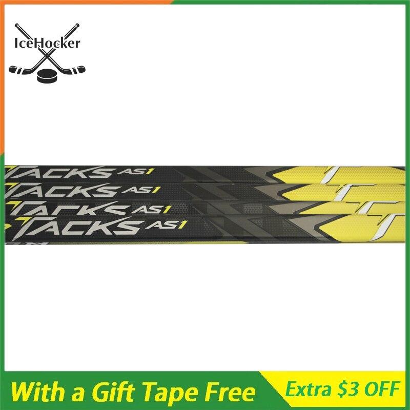 Le plus récent modèle de bâton de Hockey sur glace AS1 Tack avec une bande libre avec poignée SR bâtons en Fiber de carbone léger P29 Flex 75/85/95