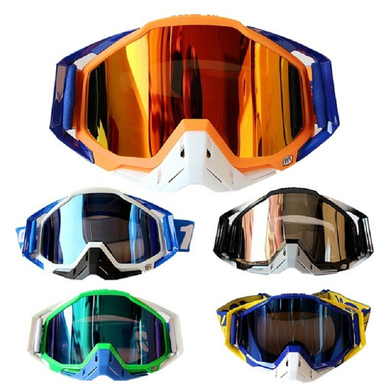 2017 100% brand Motocross Goggles Moto Bike ATV Lunette Motorcycle <font><b>Glasses</b></font> 5 Colors with Goggle Bag