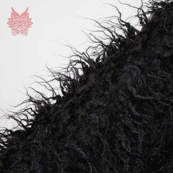 5 см черный длинный ворс пушистый искусственный монгольский мех Ткань Новорожденный ребенок Фотография реквизит поддельные Тибет овечий мех tissu 150*50 см SP710
