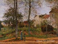 Landscape near Louveciennes 2 Camille Pissarro painting Decorative art Handmade High quality