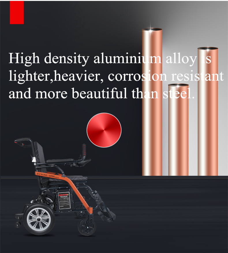 New style hot sell lightweight folding electric power wheelchair can be put into the car