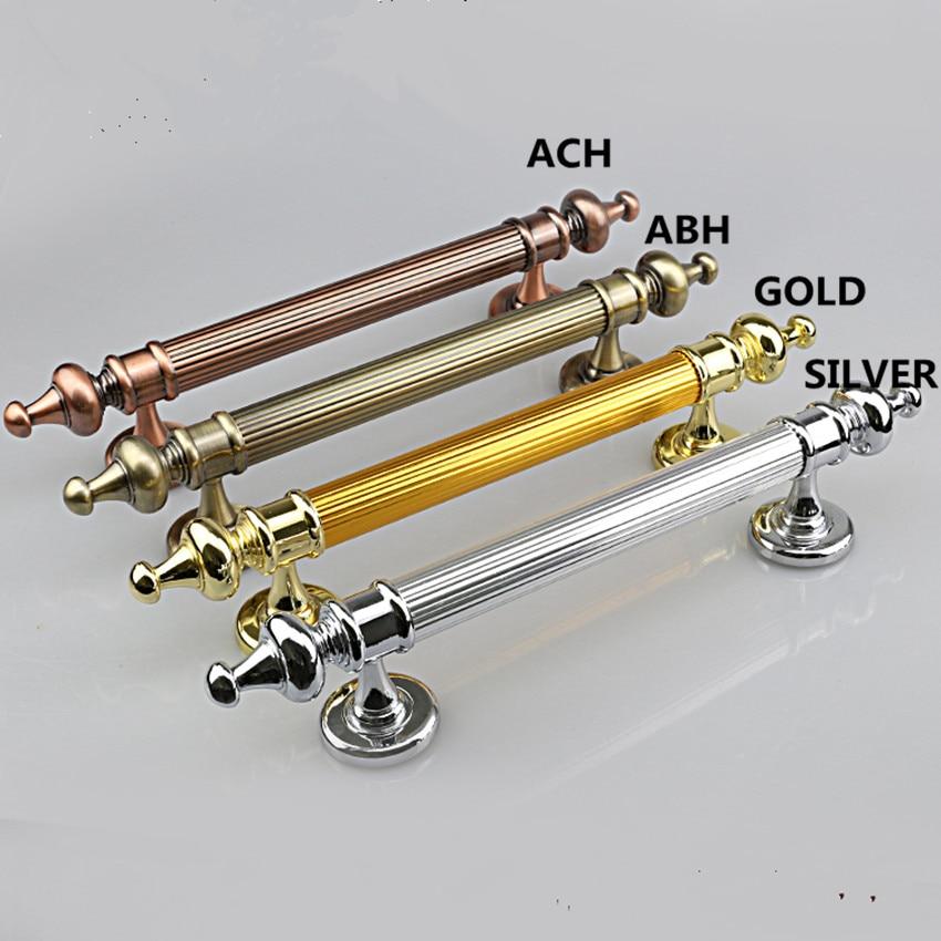 350 290 260mm vintage style woodeen door unfole install handles pulls antique copper antique brass gold silver big gate handles