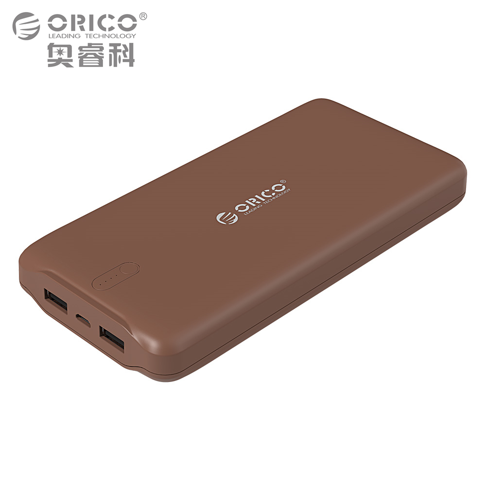 ORICO 20000mAh Power Bank External Battery Portable Charger Dual USB Powerbank 20000mAh for iPhone Samsung MacBook