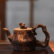 China tea set old purple clay pot authentic cup teapot gift custom Manual Frog pottery bamboo section stump zisha