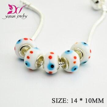 Cuentas de cristal lámpara Murano hechas a mano para pulseras de encanto...