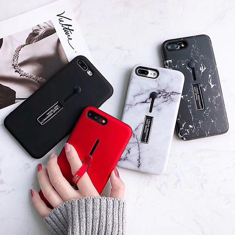 Colorful Marble Phone Iphone X Case Hide Stand Holder Cover For Iphone 6 6S 7 8 Plus Soft TPU Phone Cover Cases