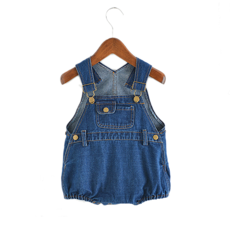 Summer Baby Clothing 2018 Baby Bodysuits Boys Girls Denim One-piece Infant Girls Overalls Sleeveless Jeans Blue Kids BodysuitSummer Baby Clothing 2018 Baby Bodysuits Boys Girls Denim One-piece Infant Girls Overalls Sleeveless Jeans Blue Kids Bodysuit