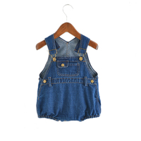 Summer Baby Clothing 2018 Baby Bodysuits Boys Girls Denim One piece Infant Girls Overalls Sleeveless Jeans Blue Kids Bodysuit