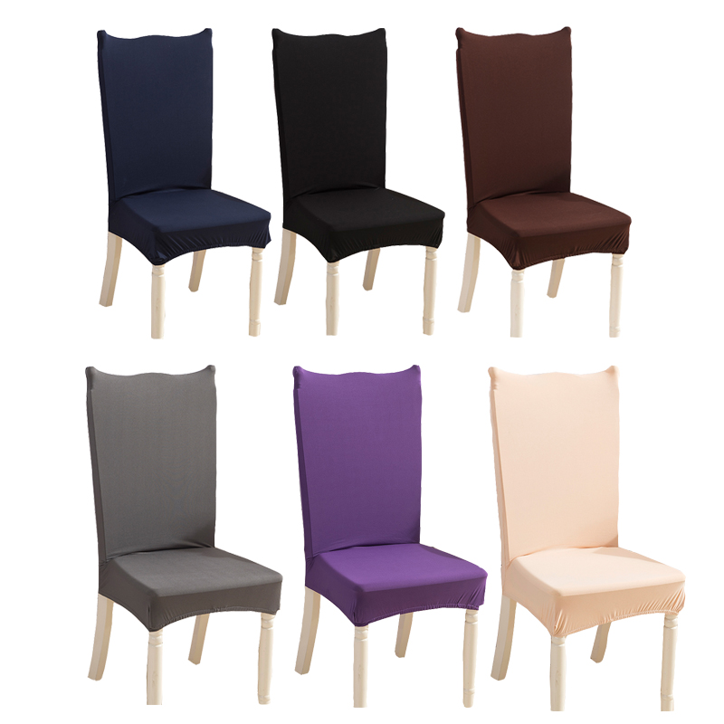 Comwarm Modern Solid Color Elastic Spandex Stretch Dining Room Chair Cover Removable Anti-dirty Seat Covers Chair Protector Case