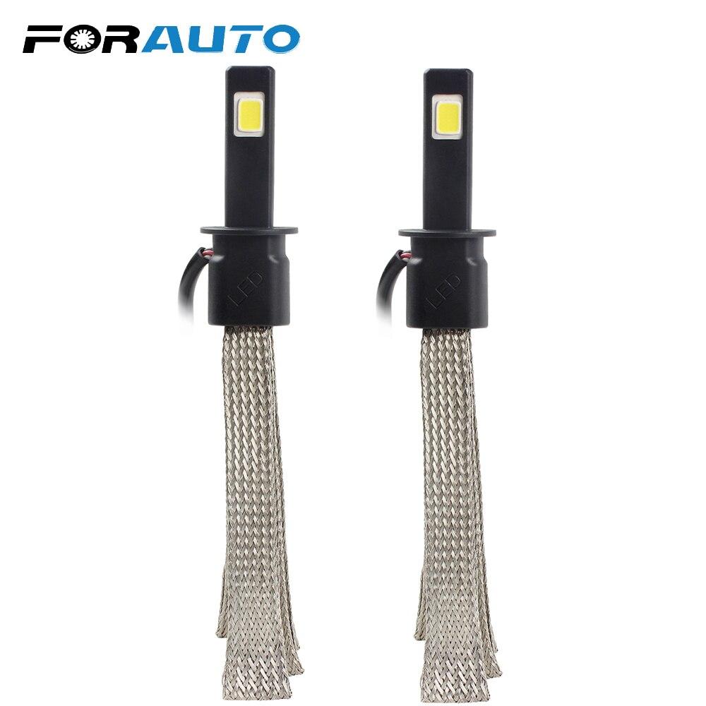FORAUTO voiture style alliage d'aluminium ceinture Dissipation thermique H1 phare LED 6000 K Kit de Conversion Super lumineux 3200LM 30 W/chaque ampoule