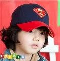 Бесплатная доставка по уходу за детьми Супермен супер человек крышка snapback регулируемая шляпа детский мальчик хип-хоп кепка хип-хоп бейсболки