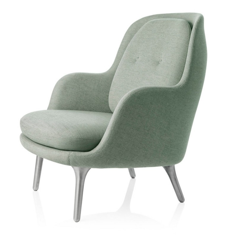 Low Back Fabric Leisure Chair Italy Design For 2pcs In Living Room