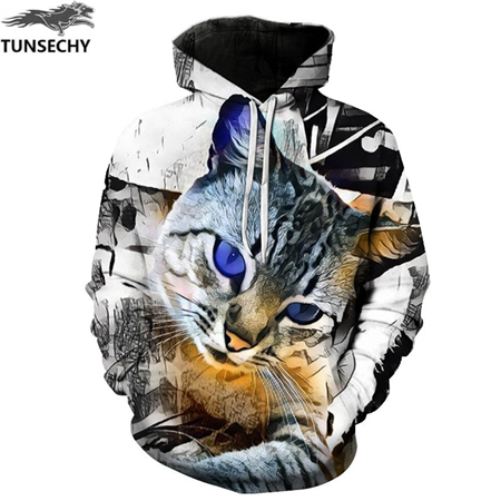 shop with crypto buy Cat Print Men/Women 3D Sweatshirts Print Milk Space Galaxy Hooded Hoodies Unisex pay with bitcoin
