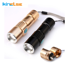 3000LM Q5 LED waterproof Super Bright Tactical Rechargeable USB Flashlight Torch Zoom Adjustable free shipping