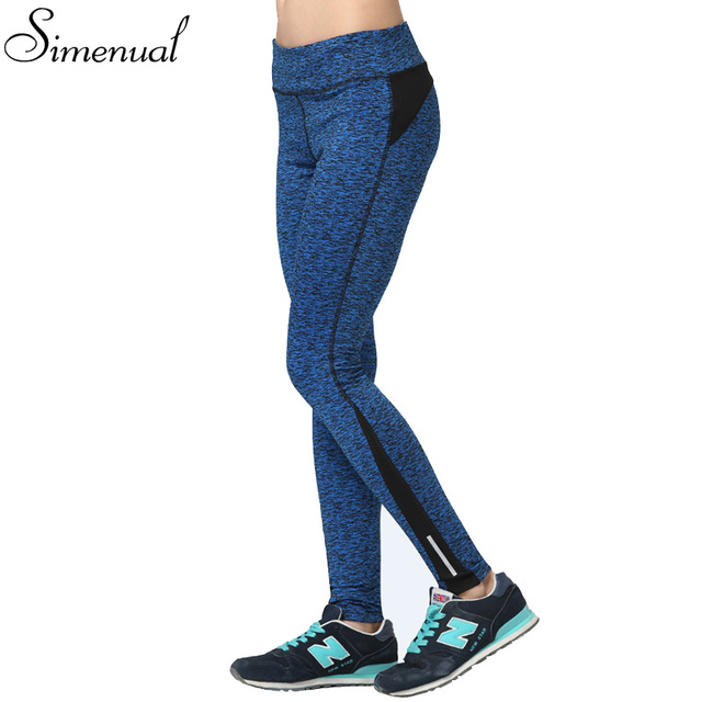 Plus size 3XL athleisure elastic leggings fitness woman summer style casual slim legging clothing 2016 splice blue sexy trousers