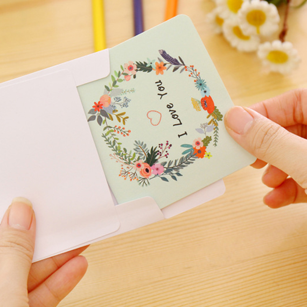 Exquisite Fashion 2 Pcs Diy Birthday Cards Dried Flower Greeting