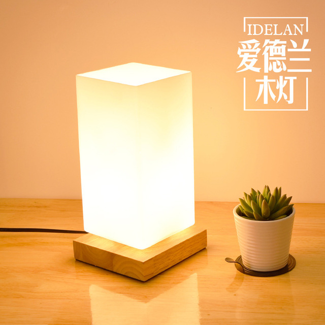 Beau TUDA 12X23cm Free Shipping Wooden Table Lamp Bedroom Living Room Table Lamp  Elegant Adornment Square Ground