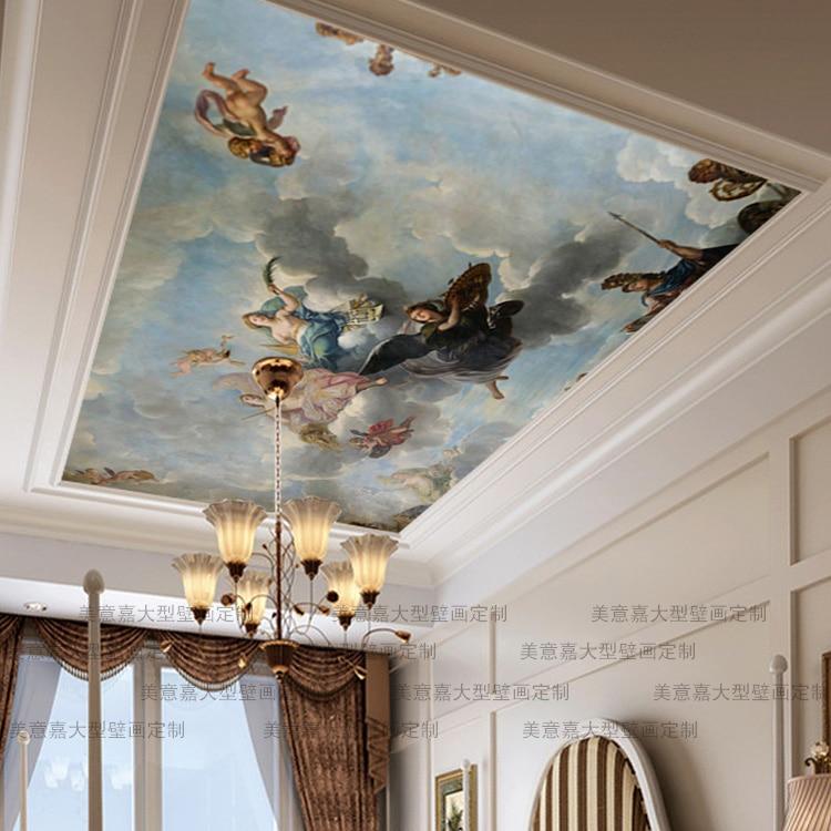 Mural mammoth mural sofa roof background 3d wallpaper for 3d roof wallpaper