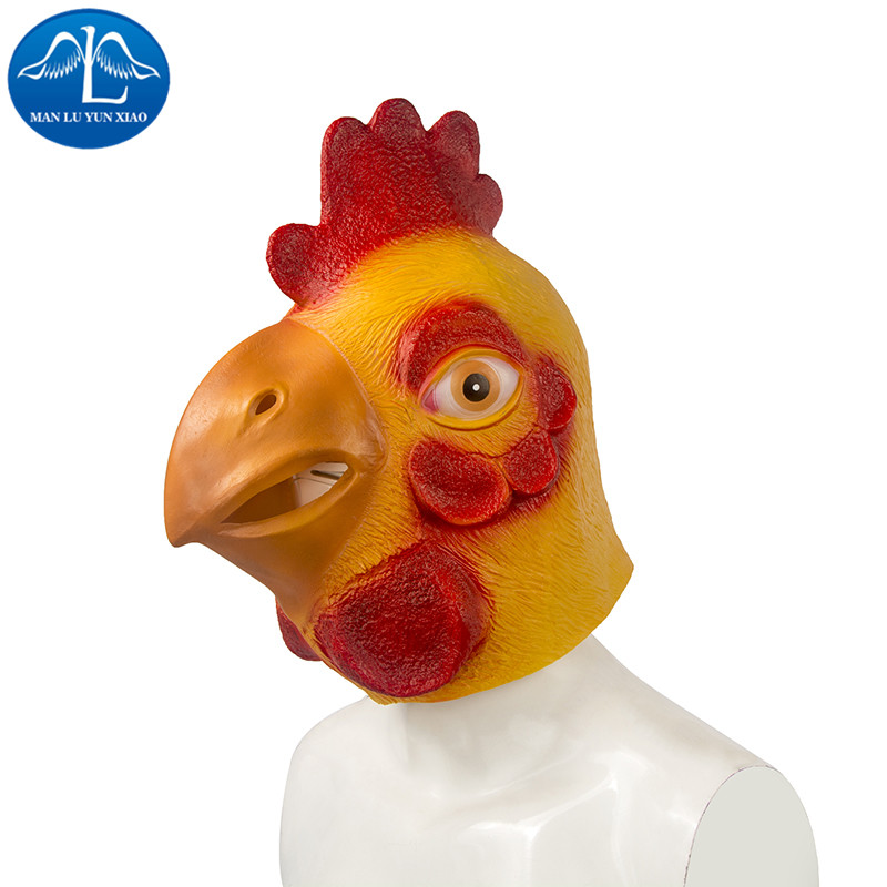 MANLUYUNXIAO Halloween Chicken Mask Deluxe Quality Adult Overhead Latex Mask Carnival Halloween Props Wholesale