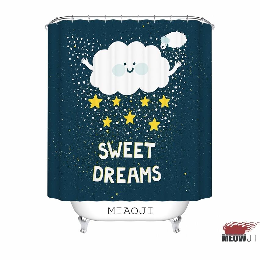 [MIAOJI]  Good Night Starry Sky In Blue custom Shower Curtain - Household Merchandises - Photo 6