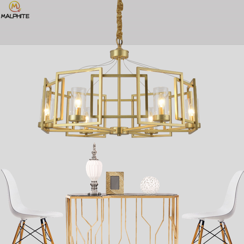 Modern LED Golden iron chandelier lighting lustre Bedroom Hotel Hall lampadario lamps Hanging deco lighting fixturesModern LED Golden iron chandelier lighting lustre Bedroom Hotel Hall lampadario lamps Hanging deco lighting fixtures