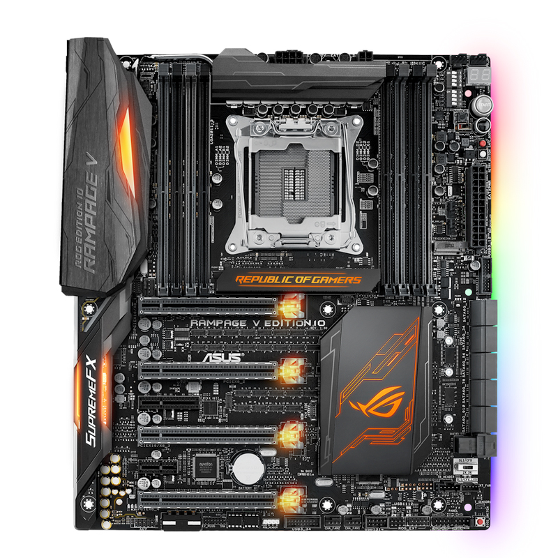 ROG Rampage V Edition 10 R5E 10year <font><b>X99</b></font> LGA 2011-V3 DDR4 128GB PCI-E 3.0 M.2 Wi-Fi motherboard used motherboard image