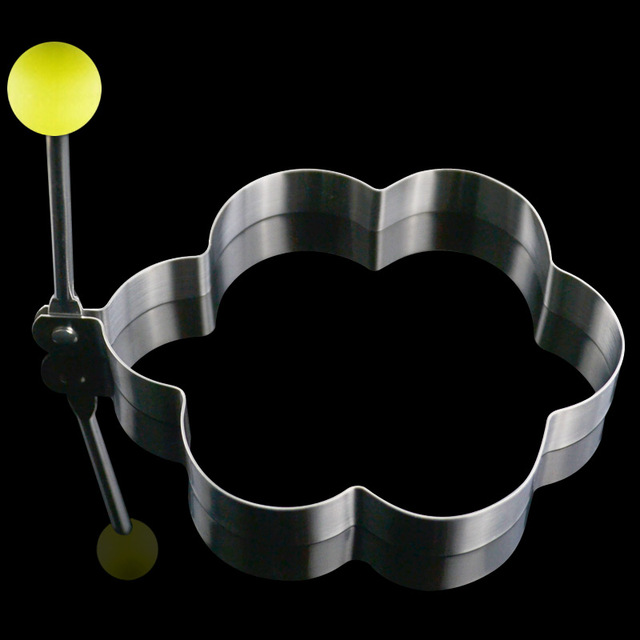 4pcs/lot small stainless steel omelette mould device love surprise eggs ring model set heart shape egg mold styling tools