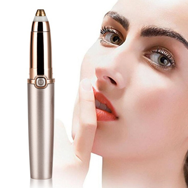 Lipstick Mini Epilator Thread Eyebrows Trimmer ABS Material Painless Machine Epilation Battery Electric Epilator 1