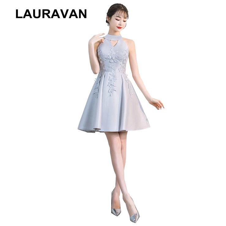 simple high school formal grey corset   bridesmaid     dresses   2019 teen girls short satin   dress   for teens party gowns weddings