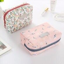 Girls Zipper Cosmetic Bags Fashion Retro Travel Makeup Bag Organizer Make Up Case Storage Pouch Toiletry Beauty Kit Box Wash Bag