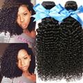 Глубокая Волна Бразильские Волосы Девственницы 3B 3C Kinky Вьющиеся Девственницы Бразильские Волос Weave Связки Человеческих Волос Rosa Продукты Волосы