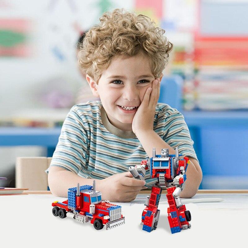 oyuncak Transformation Prime 384pcs/set Bricks Sets Enlighten Child Educational Toys for kids Christmas gift