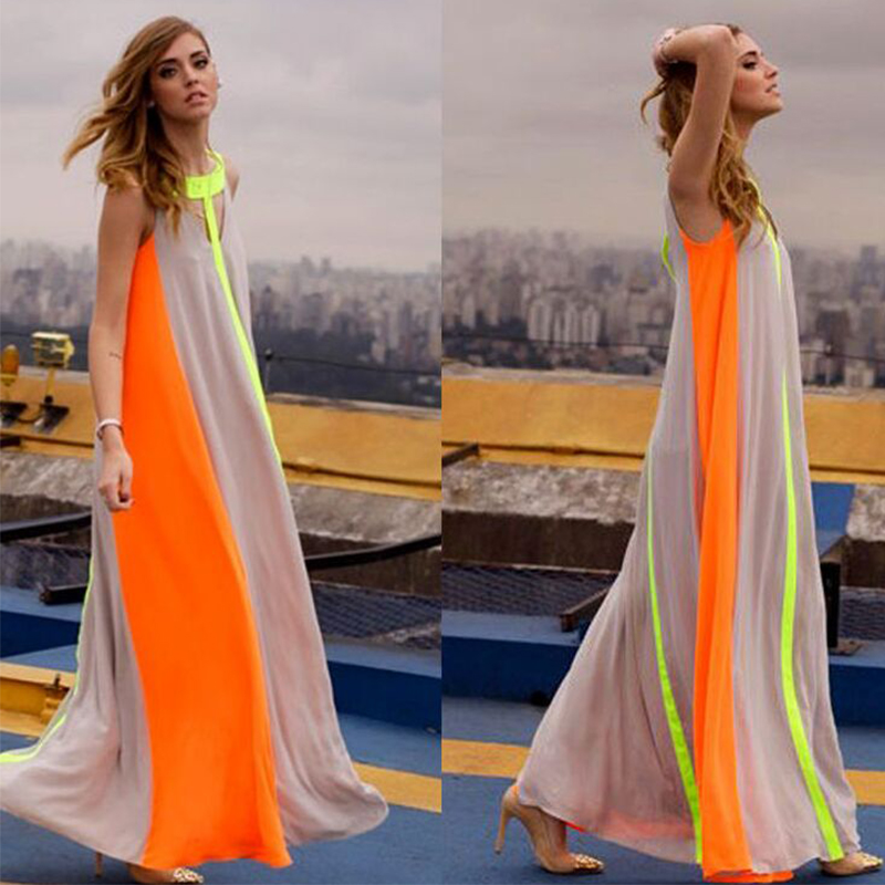 2015 Women Boho Patchwork Long Dress Vestidos Vestidos Longo High ...