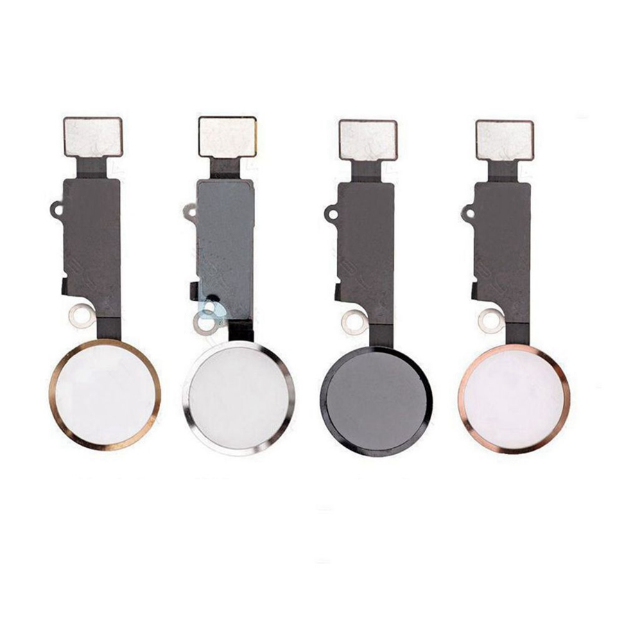 Leoleo White/Black/Gold/Rose For IPhone 7 Plus 7 7G Home Button With Flex Cable For IPhone 7+ Home Key Assembly NO TOUCH ID