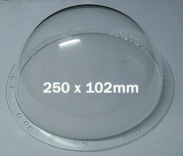 250x102mm 9inch Cctv Security Surveillance Clear Acrylic
