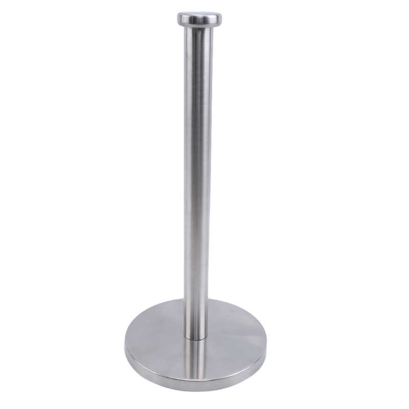 Stainless Steel Vertical Roll Paper Towel Holder Stand Bathroom