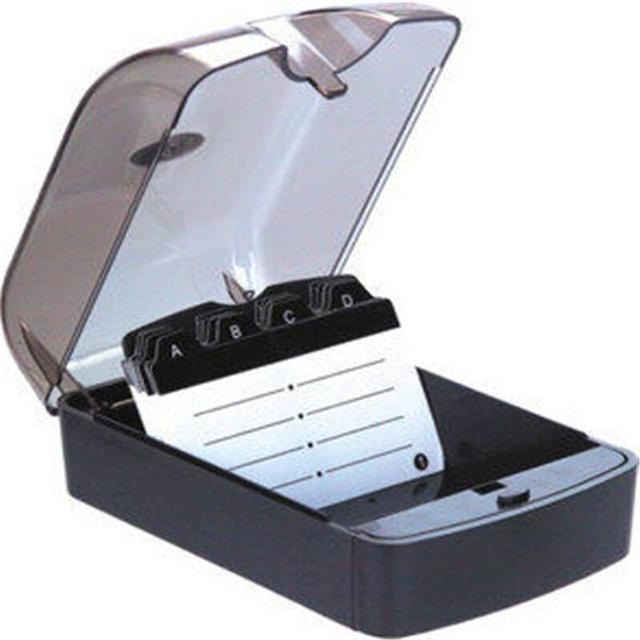 premium large capacity 350 cards name card holder with index cards high quality durable name card - Index Card Holder