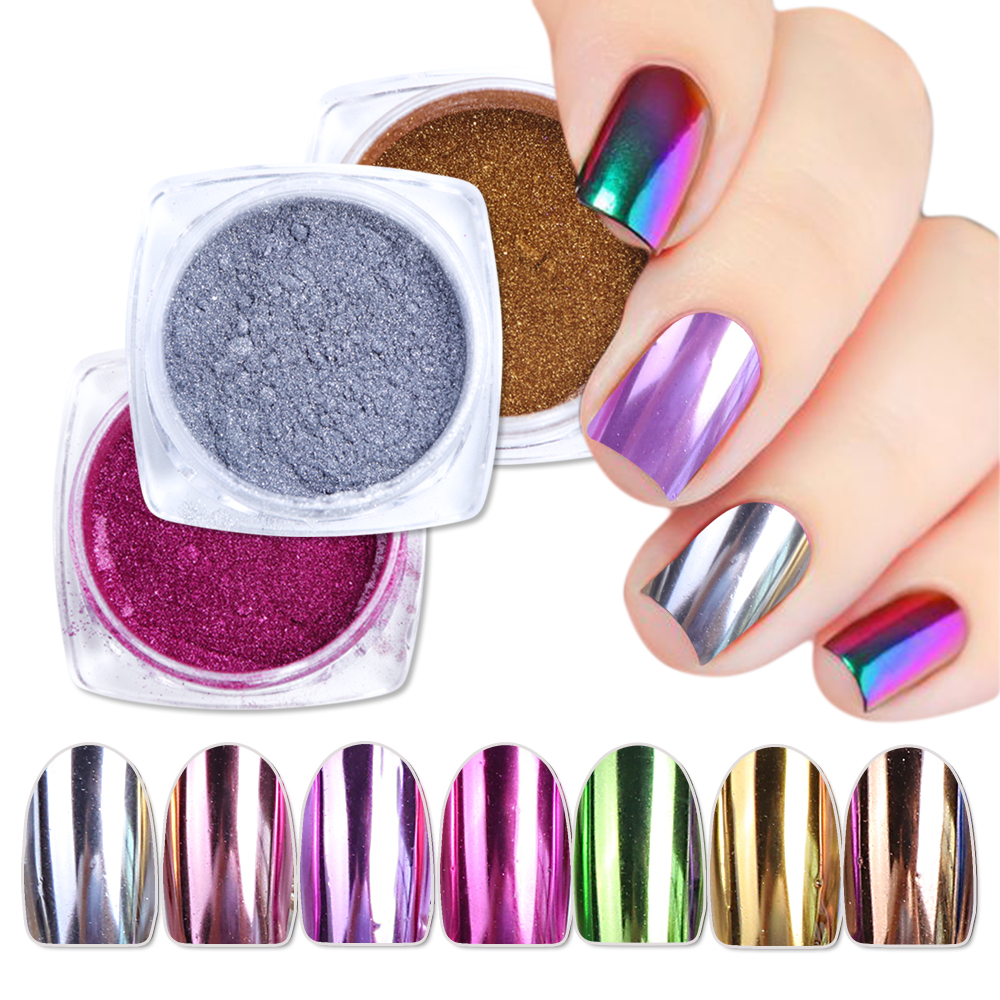 Nails Art & Werkzeuge Sarness Gel Nail Art Chrome Pigment Glitters Staub Maniküre Holographische Dekorationen Shinning Spiegel Nagel Glitter Pulver Wunderschöne