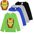 Camiseta Del Verano Del resorte Del Muchacho Tops Y las Camisetas de Los Niños Iron Man Camiseta divertida Para Niños de Manga Larga T-shirt Bebé Inferior camisas