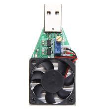 Brand 15W Industrial Grade Electronic Load Resistor USB Discharge Battery Tester With Fan Adjustable Current Good