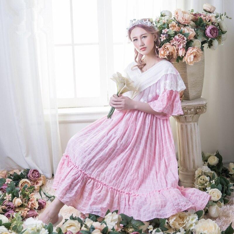 Aliexpress.com : Buy Women Sleepwear Gowns Long Nightgown Ladies ...