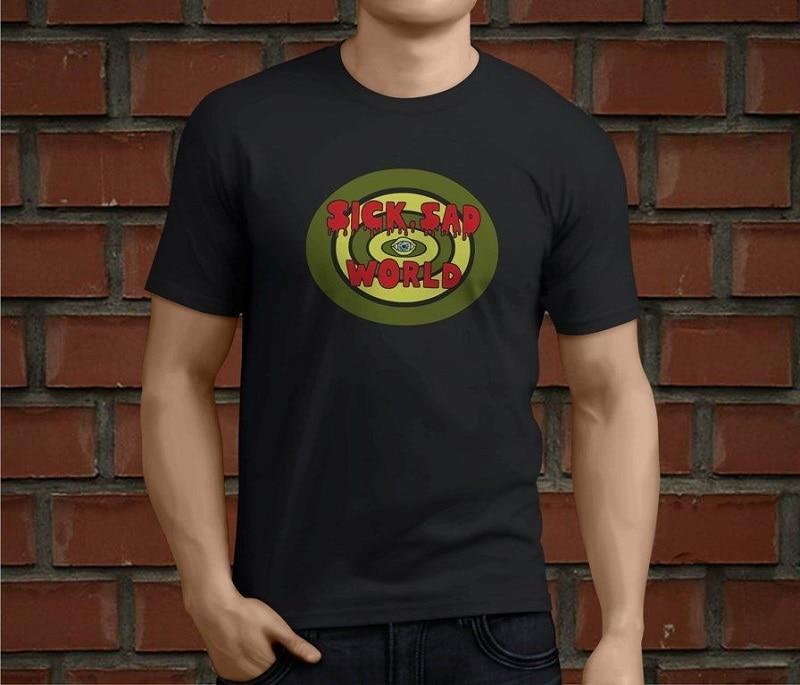 Cool Shirts Short Sleeve Printing O-Neck Mens Daria Sick Sad World Shirt