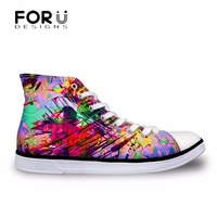 FORUDESIGNS Galaxy Space Star 3D Printed Women Vulcanized Canvas Shoes High top Leisure Shoes for Woman Sneakers Tenis Feminino