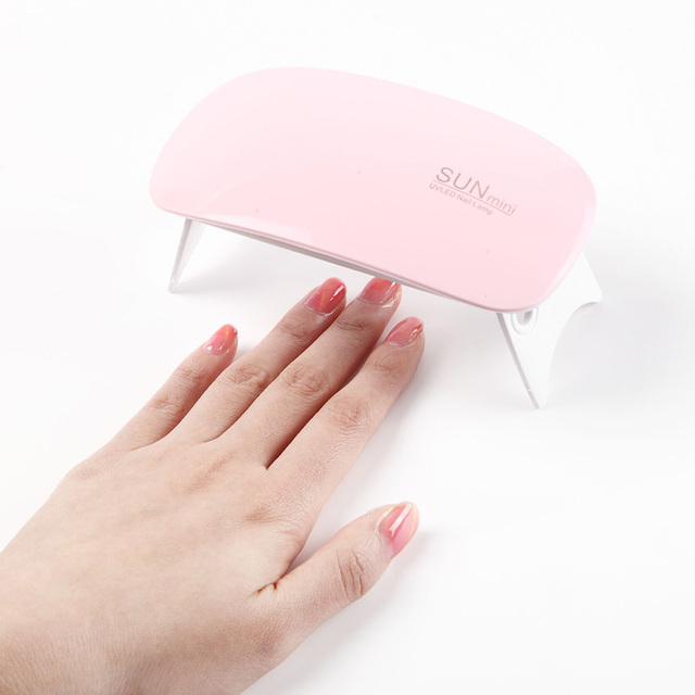 6W LED Mini Gel Nail UV Lamp Apply for USB Portable Gel Nail Dryer Fast Dry 45s 60s Timer LED Light Polish Led Lamp Gel Manicure