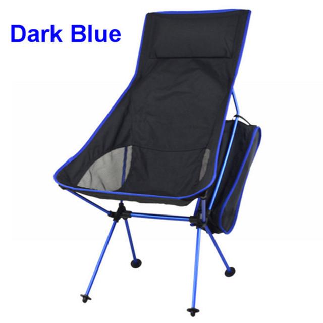 1 pcs Lua Ultraleve Dobrável Lazer Cadeira de Acampamento com Saco Portátil para Caminhadas Ao Ar Livre Piquenique Viagem 4 cores