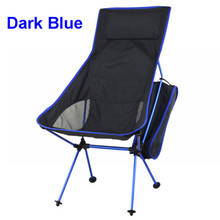 1pcs Portable Ultralight Collapsible Moon Leisure Camping Chair with Bag for Outdoor Hiking Travel Picnic 4 color