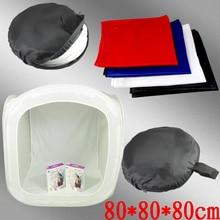 Новый Фотостудия 80 СМ Съемки Освещения Софтбокс Палатка 4 Фон фотоаппаратура студия бокс-сет Cd50