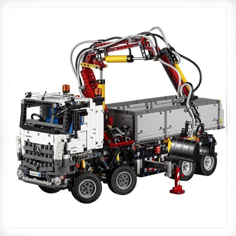 2793 pièces LEPINE Technic série 42023 Arocs camion modèle bloc de construction briques Compatible 05007 éducatif garçons jouet cadeau